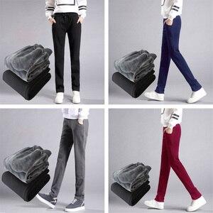Image 3 - LOMAIYI Plus Size Winter Warm Pants For Women Korean Sweatpants Womens Trousers Female Black Soft Fleece Cotton Pants BW032
