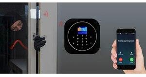 Image 2 - Sgooway fabrika dokunmatik tuş takımı WIFI GSM ev hırsız güvenlik kablosuz Tuya Alarm sistemi hareket dedektörü APP kontrol yangın duman