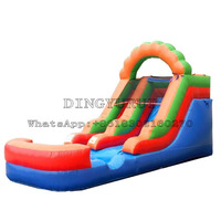 Hot Sale Outdoor Water Slide Inflatable Slide with Pool For Kids and Adult