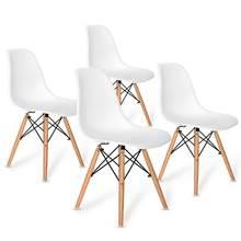 4 Uds Silla de comedor nórdica silla oficina diseño minimalista moderna creativa Silla de ordenador taburete de té y café para casa, dormitorio de estudio