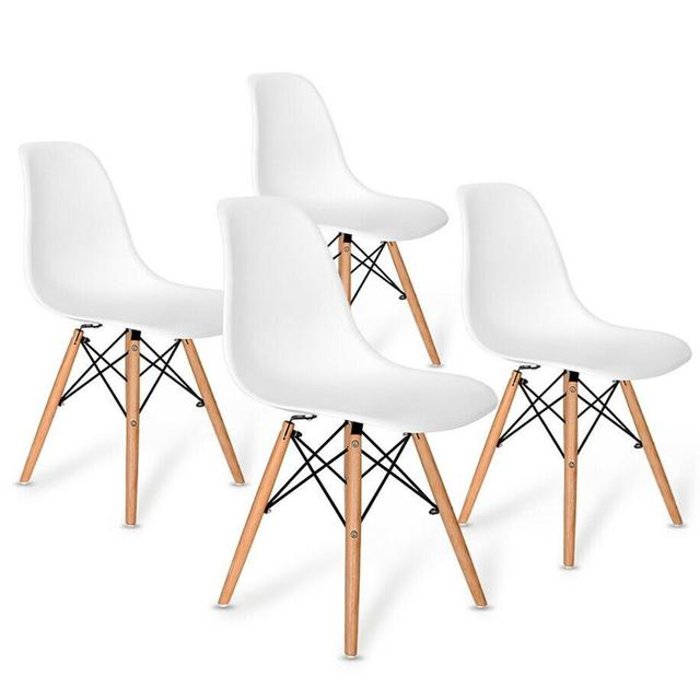 4Pcs Nordic Dining Chair Creative Modern Minimalist Design Office Chair Computer Chair Tea Coffee Stool For Home Study Bedroom