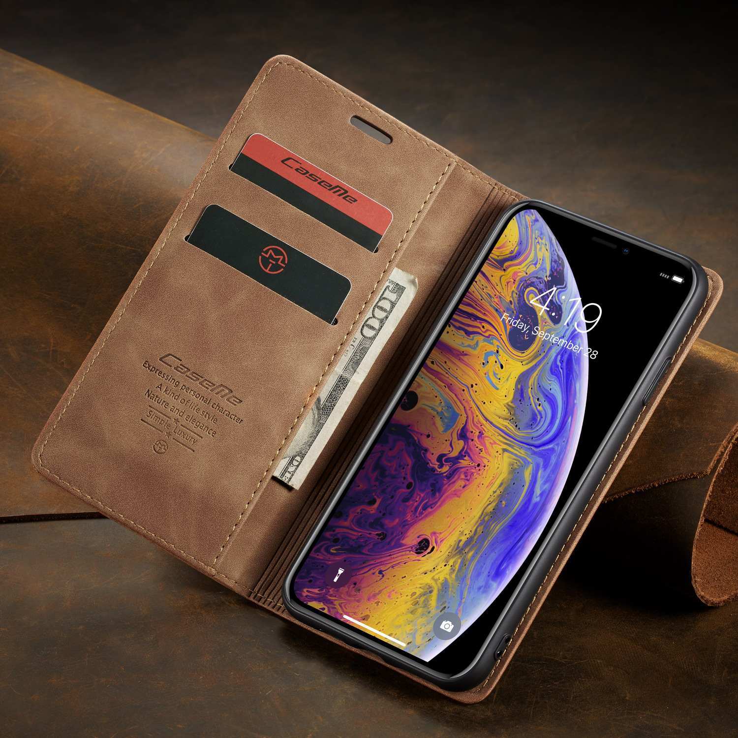 Phone Case For iPhone X XR XS Max 8 7 6 Plus 5 Retro Luxury Matte Leather Soft TPU Magnetic Flip Wallet Slot Stand Case Cover in Flip Cases from Cellphones Telecommunications