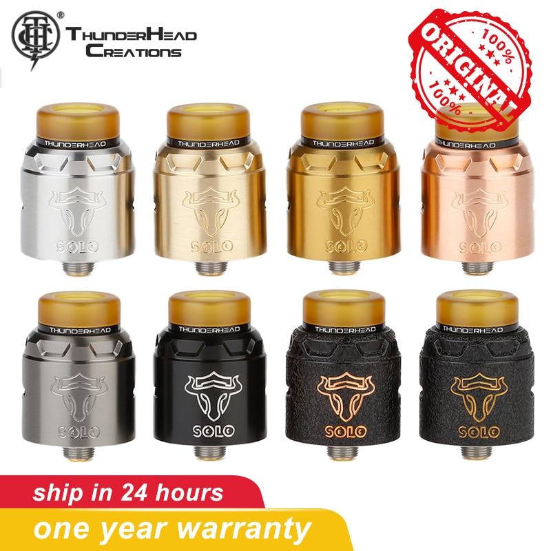 Original THC Tauren Solo RDA Vape Tank 2ml Capacity Single Coil 24mm Diameter Electronic Cigarettes Atomizer