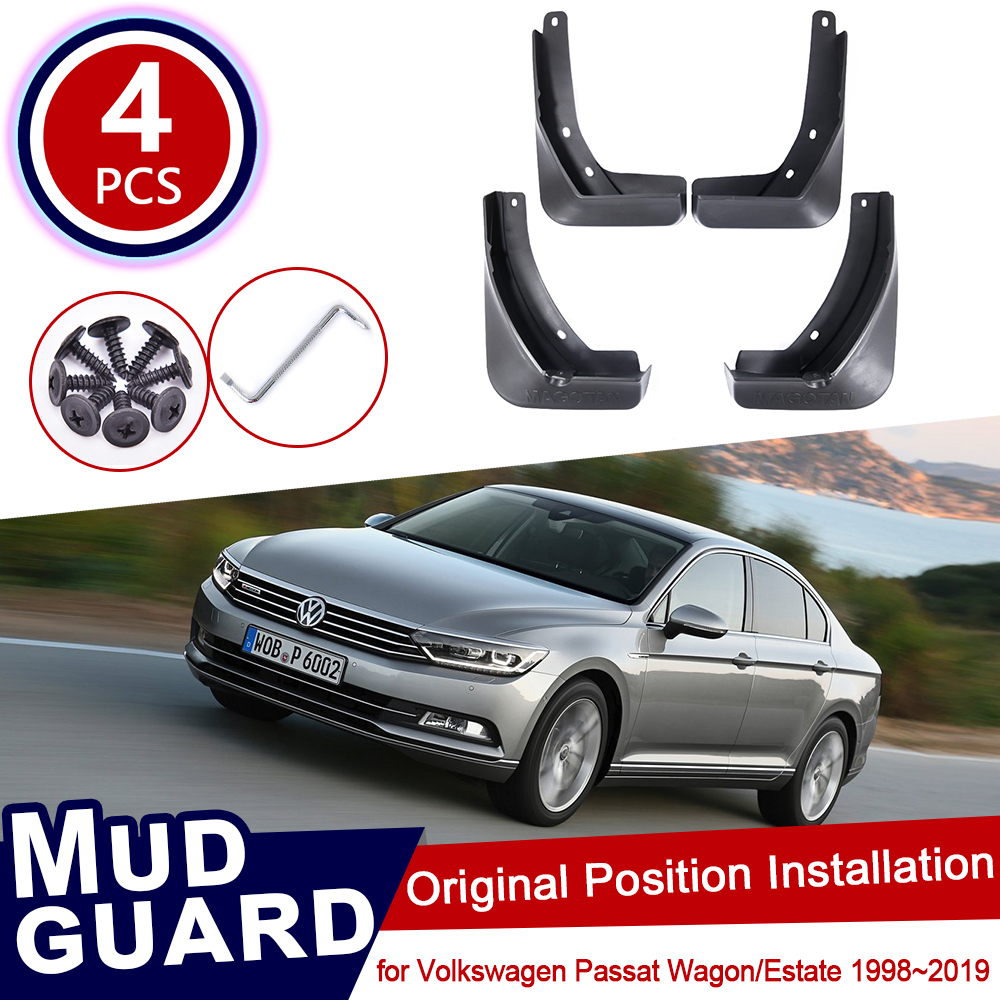 for Volkswagen VW Passat B5 B5.5 B6 B7 B8 Wagon Estate 1998~2019 Car Mud Flaps Mudguard Splash Guards Fender Mudflaps 2016 2017 image