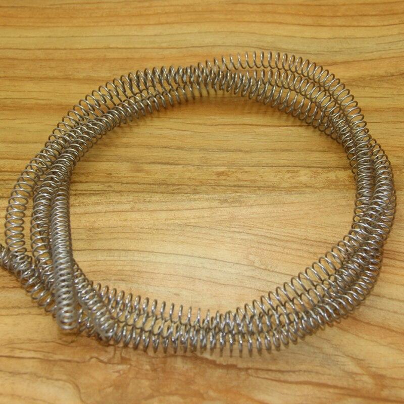 Тонкая длинная гибкая пружина сжатия, 1 мм диаметр провода *(5-14) мм выход диаметр * 1000 мм длина 1 шт.