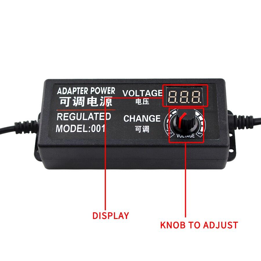 AC DC 110V 220V DC 3V 9V 12V 24V Универсальный адаптер питания регулируемое зарядное устройство экран Трансформаторы 220V до 12V