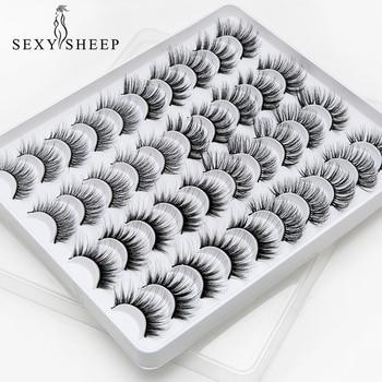 SEXYSHEEP 8/16/20 pairs 15-20mm natural 3D false eyelashes fake lashes makeup kit Mink Lashes extension mink eyelashes maquiagem