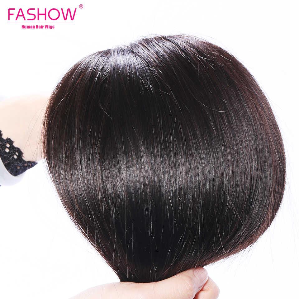 Fashow 30 32 34 36 40 inç hint saç düz saç demetleri 100% doğal insan saçı 1 3 4 demetleri çift atkı kalın Remy saç