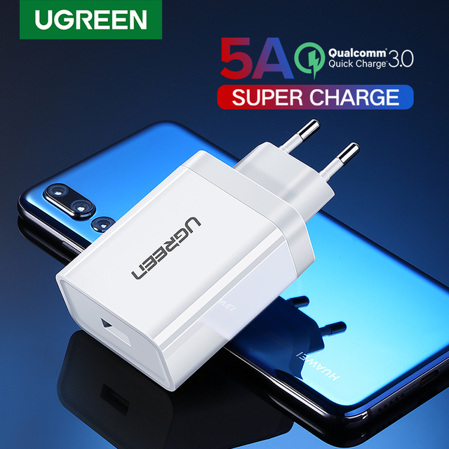 Ugreen USB Charger Super Fast Charger Quick 3.0 Phone Charger EU Adapter Charging for Huawei Xiaomi iPhone X 8 7 Samsung s9