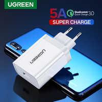 Ugreen carregador usb carregador super rápido para huawei xiaomi iphone x 8 7 rápido 3.0 carregador de telefone adaptador da ue de carregamento para samsung s9