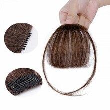 Halo Lady Dark Brawn Клип В челке человеческие волосы плоская воздушная бахрома челка невидимые перуанские волосы части не-Реми замена волос парик
