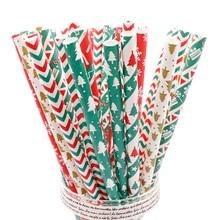 25 шт./лот бумага питьевой одноразовые трубочки посуда красный счастливые Свадебные украшения для дня рождения партия поставок пользу Девушки Вечерние