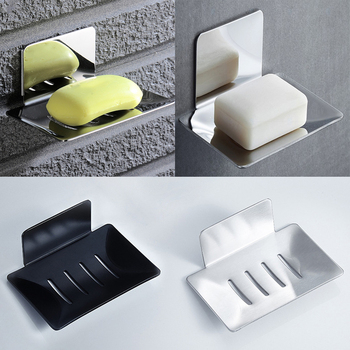 Stainless Steel Bathroom Shower Soap Box Dish Storage Plate Tray Holder Case Soap Holder Housekeeping Container Organizers