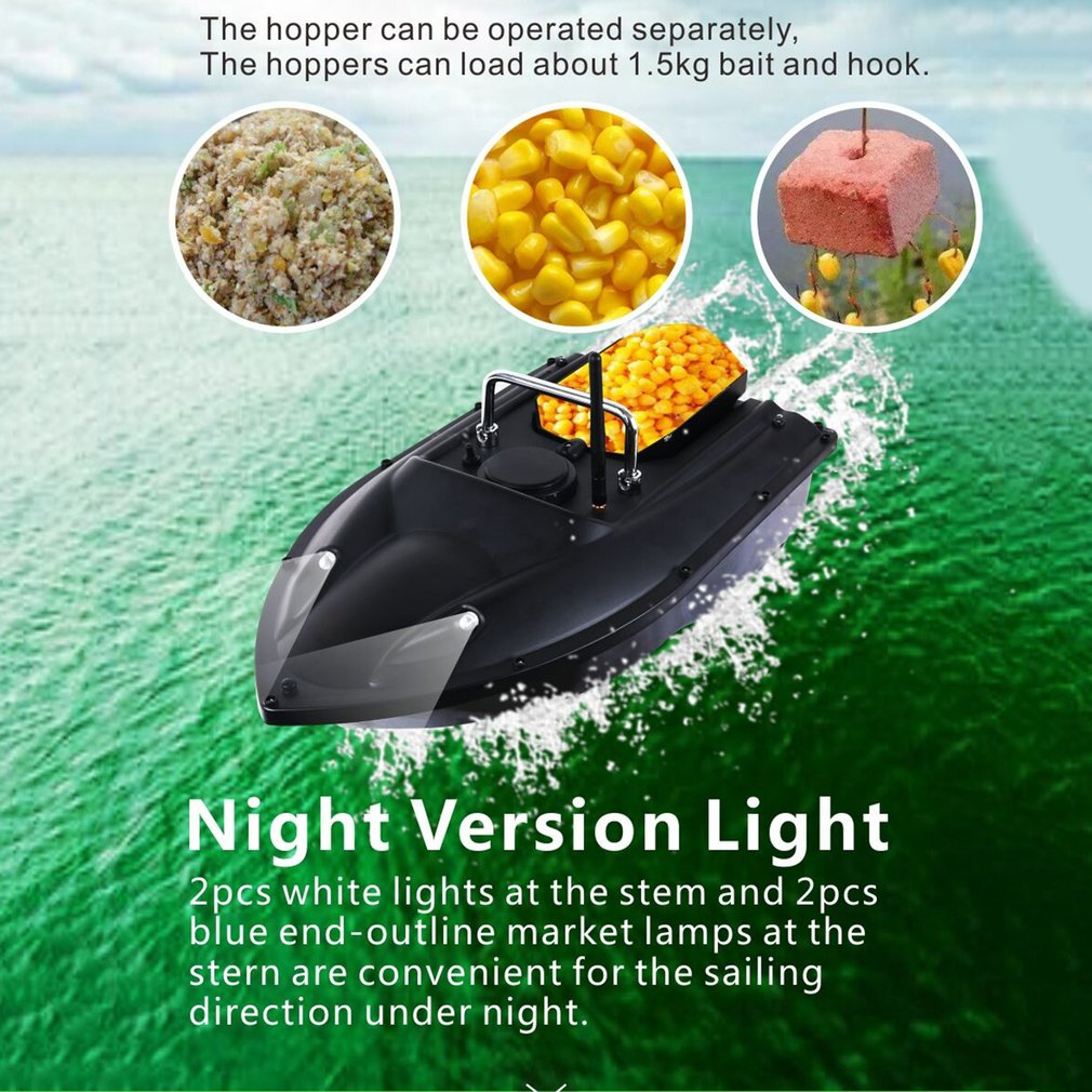 D13 Smart RC Bait Boat Dual Motor Fish Finder Ship Boat Remote Control 500m Fishing Boats Speedboat Fishing Tool Toys image