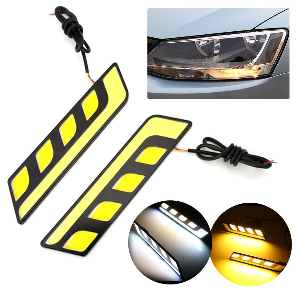 2x White 12V 100 LED COB Car DRL Driving Daytime Running Light Bulb Fog Lamp