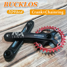 BUCKLOS MTB 104BCD Crank 170mm Bike Crankset Square Hole For Single/Double Chainring 32T-42T chainwheel For 8-11s chain parts