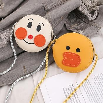 1Pcs PU Leather Children Messenger Bag Cute Cartoon Kids Waist Wallet Protable Belt Bags