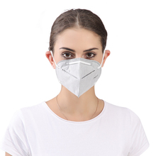 Dust Mask Gray Color KN95 Standard High Efficiency Dustproof Anti-Particle Activated Carbon Folding Disposable Mask