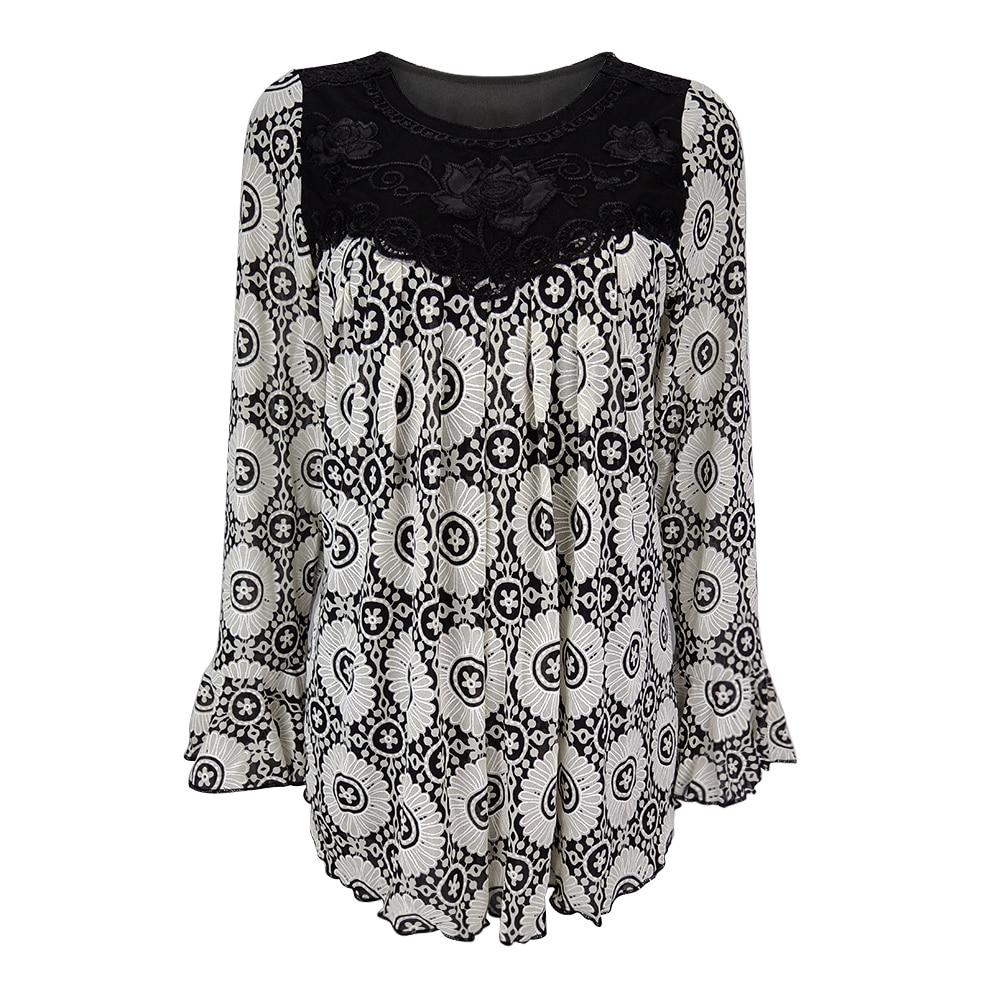 Image 5 - YTL Womens Plus Size Elegant Mature Floral Loose Tunic Top Shirt Sleeve Oversize Blouse Holiday Summer Shirt 6XL 7XL 8XL H036blouse shirtoversized blouseblouses plus -
