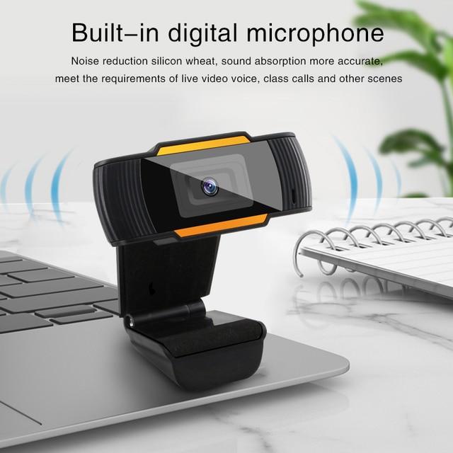 Webcam 1080P 720P 480P Full HD Web Camera Built-in Microphone Rotatable USB Plug Web Cam For PC Computer Mac Laptop Desktop 5
