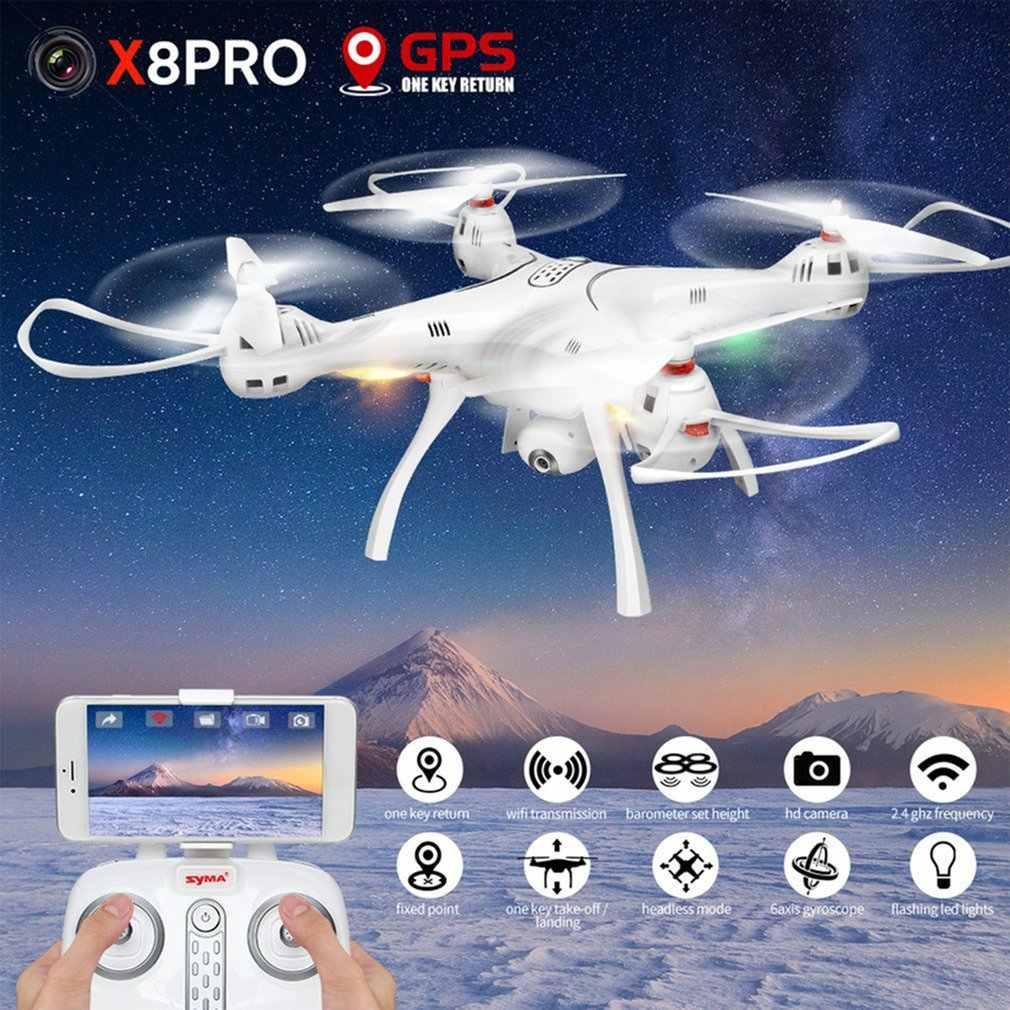 Syma X8PRO 2.4 グラム Gps 測位 FPV RC ドローン quadcopter 720 720P の HD 無線 LAN 調節可能なカメラリアルタイム高度保持ヘッドレスハイ