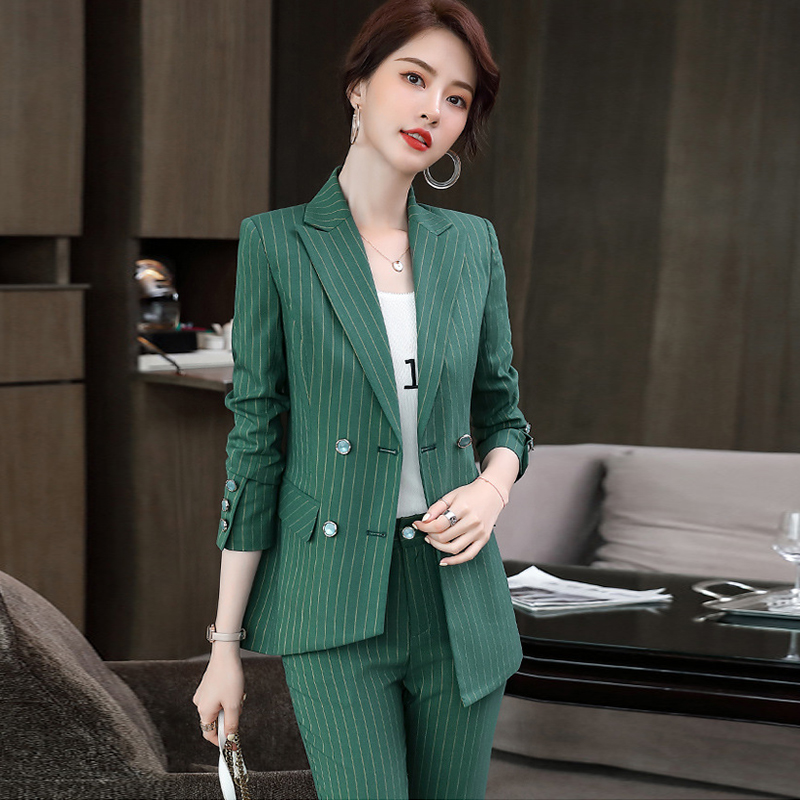 High quality women's business professional suit pants 2020 new fall plus size female office jacket small suit Hotel overalls