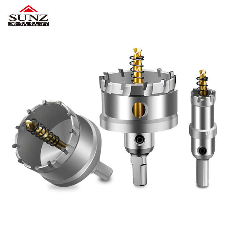 1 Pcs del Metallo Dell'acciaio inossidabile Squisito K10 16-75mm Carbide Tip HSS Punte Bit Foro Seghe Superhard Lega foro Seghe Set