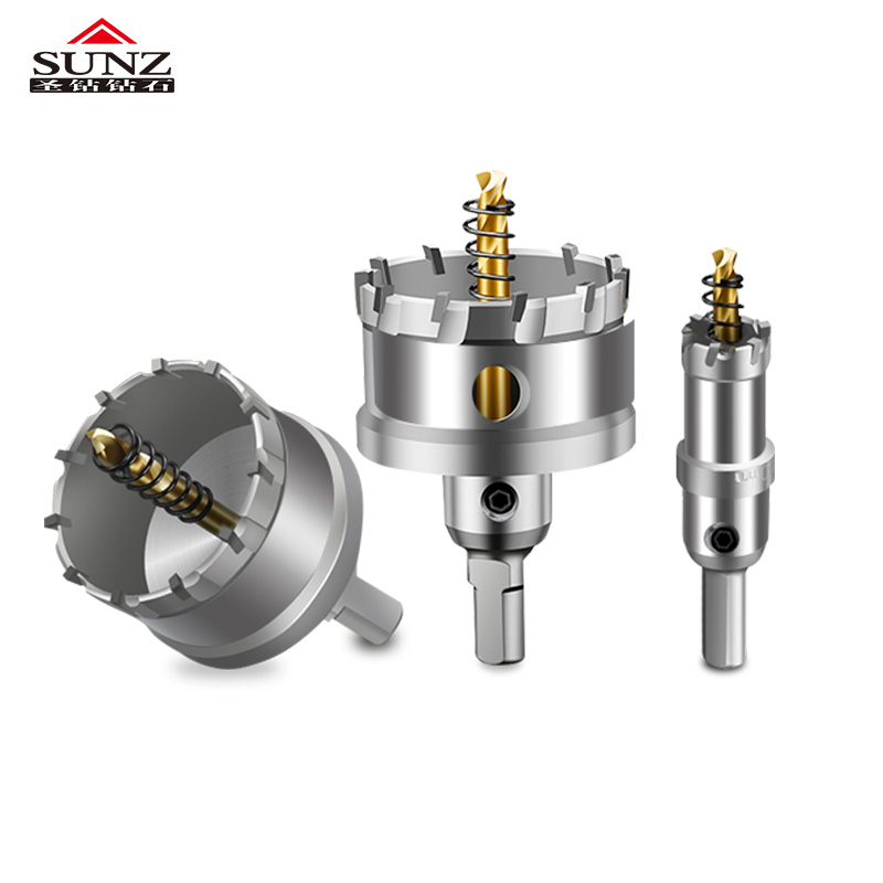 1 Pcs Stainless Steel Metal Exquisite K10  16-75mm Carbide Tip HSS Drills Bit Hole Saw  Superhard Alloy Hole Saw Set