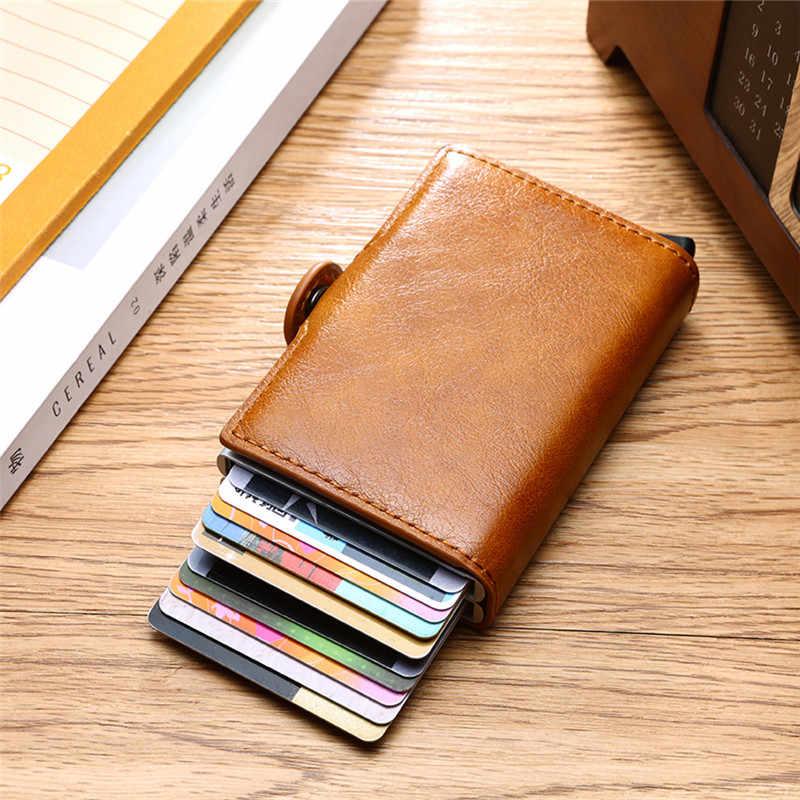 Bycobecy, углеродное волокно, анти-Rfid, кредитный держатель для карт, мужской держатель для карт, кошелек, алюминиевая двойная коробка, банк, кредитная карта, минималистичный кошелек