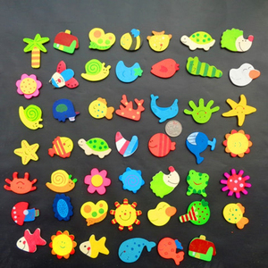 12 Pcs/lot Wooden Refrigerator Magnet Fridge Stickers Animal Cartoon for Children Baby Educational Toys Gifts Colorful Kids Toys