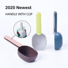 2020 New Pet Dog Food Feeder Scoop Shovel Spade Dishes Tool Cat Dog Spoon Plastic Shovel Pet Feeder for Puppy Bird Ferret Rabbit