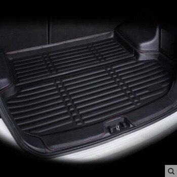 Revestimiento de carga de coche para Volkswagen VW Golf 7/GTI R Mk7 escotilla trasera 2013 2014 2015 2016 2017 2018 forro de maletero alfombra de carga Tr