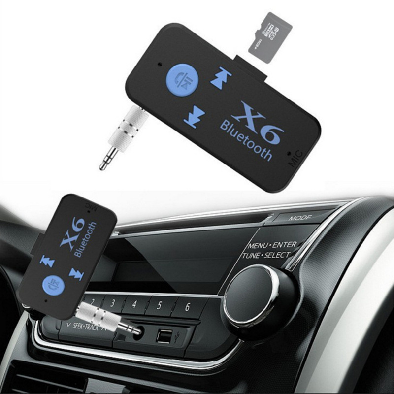 3 In 1 Bluetooth Wireless 4.0 Adapter USB Bluetooth Receiver 3.5mm Audio Jack TF Mp3 Card Reader MIC Call Support Car Speaker