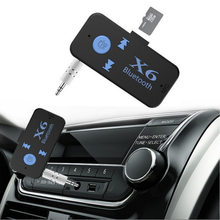 3 in 1 Bluetooth Wireless 4.0 Adapter USB Bluetooth Receiver 3.5mm Audio Jack TF mp3 Card Reader MIC Call Support Car Speaker(China)