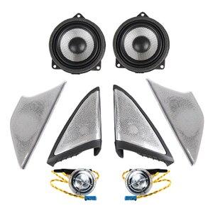 Image 1 - Araba ışık ses kapakları BMW G30 G38 ön kapı müzik ses trompet kafa tiz kapak kızdırma hoparlör Tweeter hoparlörler LED