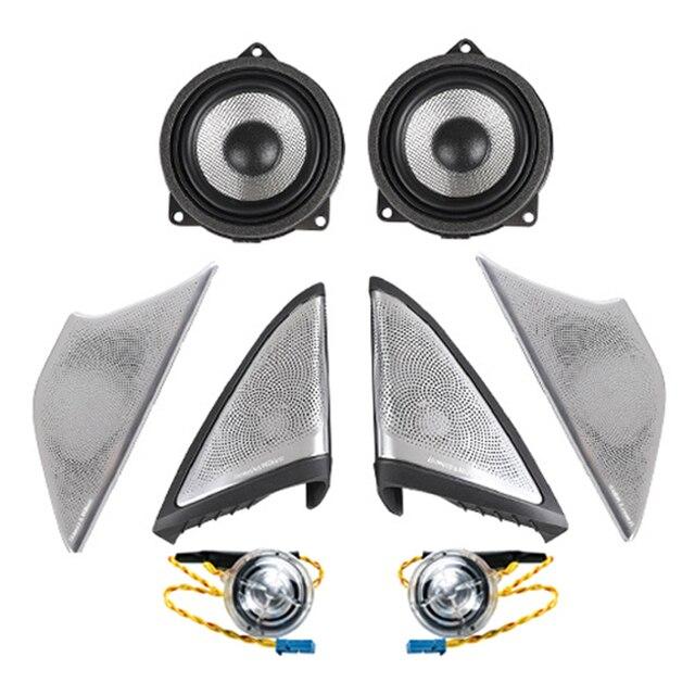 Araba ışık ses kapakları BMW G30 G38 ön kapı müzik ses trompet kafa tiz kapak kızdırma hoparlör Tweeter hoparlörler LED