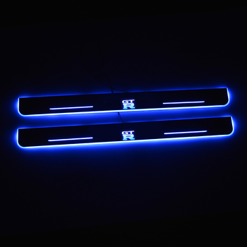 цена на LED Door Sill For Nissan GTR GT-R R35 2007 to 2020 Door Scuff Plate Pathway Welcome Light Car Accessories