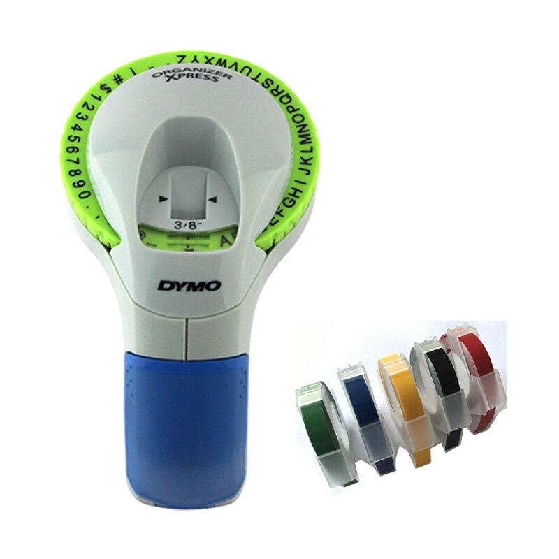 Dymo 12965 impressoras de etiquetas manuais 9mm 3d multicolorido gravando fitas de etiquetas para máquina dymo fabricantes de etiquetas manuais 12965 etiquetas diy