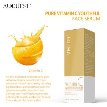 11.11 AuQuest Vitamin 24K Gold Serum para o rosto Sérum de clareamento Removedor de rugas facial Essência antienvelhecimento Umidade líquida Cuidados com a pele 1