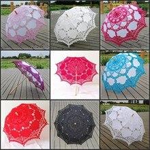 Paraguas Vintage victoriano encaje Manual apertura boda paraguas sombrilla para novia para boda ducha decoración del paraguas