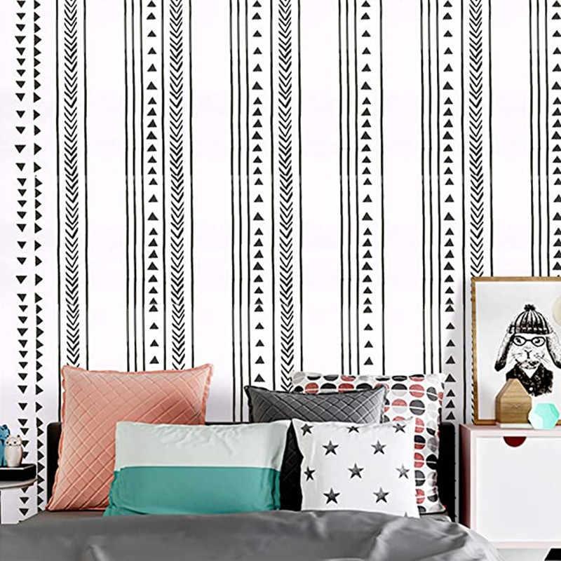 Modern Triangle Peel And Stick Wallpaper Arrow Trellis Black White Vinyl Self Adhesive Wallpaper Bedroom Wall Home Decoration Aliexpress