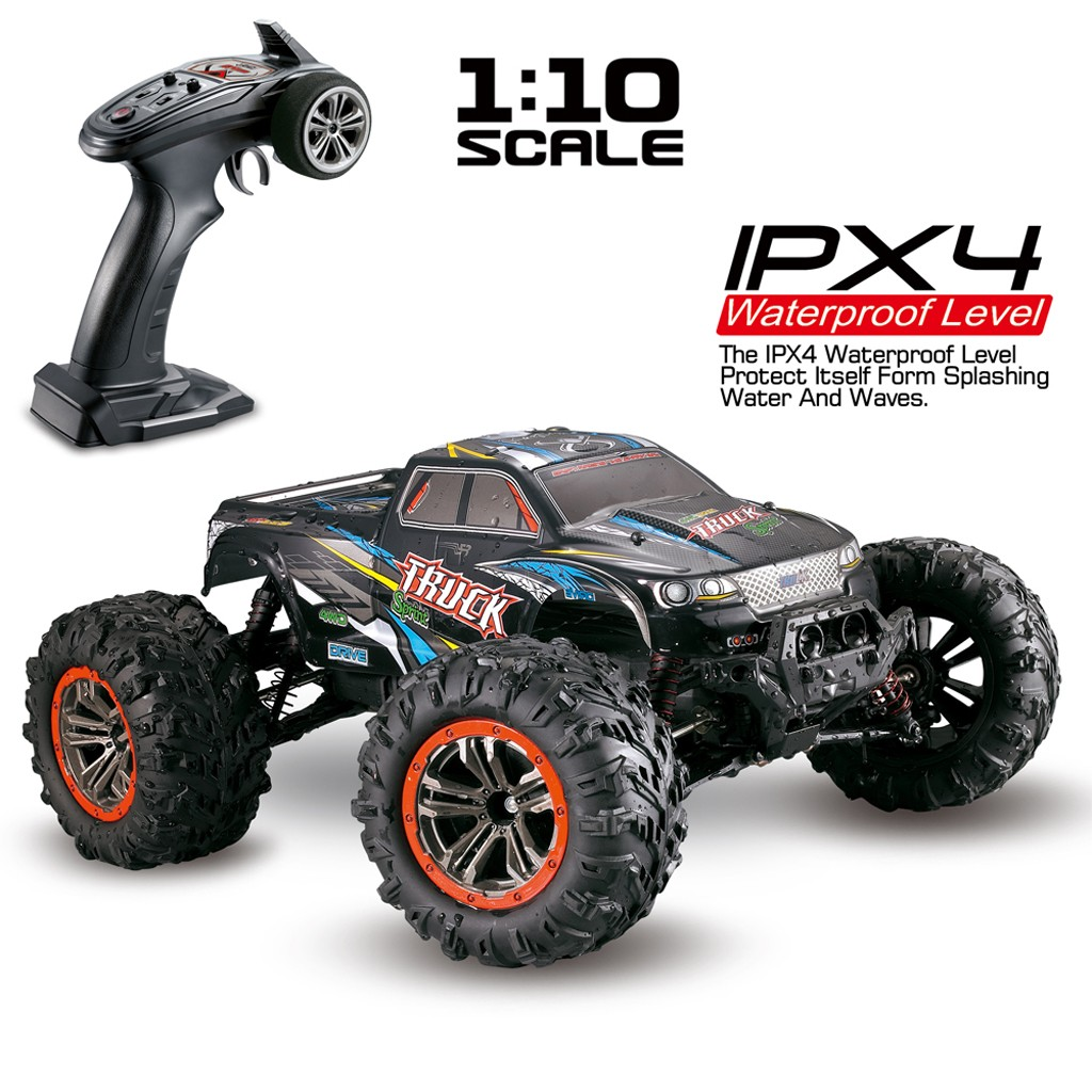 <font><b>1/10</b></font> Scale High Speed 46km/h 2.4Ghz 4WD Radio Controlled Off-road <font><b>RC</b></font> <font><b>Car</b></font> New Best Presents Kids Детский игрушечный подарок#D5 image
