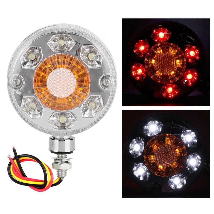 2/x rojo amarillo cromo LED luces laterales de marcador de trasera