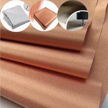 Anti-varredura rfid blindagem tecido anti radiação pano condutor para forros eletromagnética rf rfid blindagem tecido diy