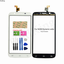 Mobile Touch Screen For NGM Dynamic Wide Touch Screen Digitizer Panel Glass Front Glass Sensor Lens 3M Glue Wipes