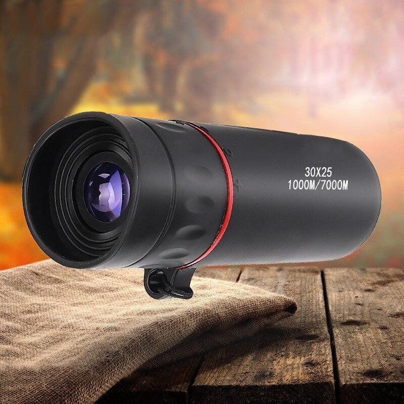 HD 30x25 Monocular Telescope Binoculars Zooming Focus Green Film  Optical Hunting High Quality Tourism Scope