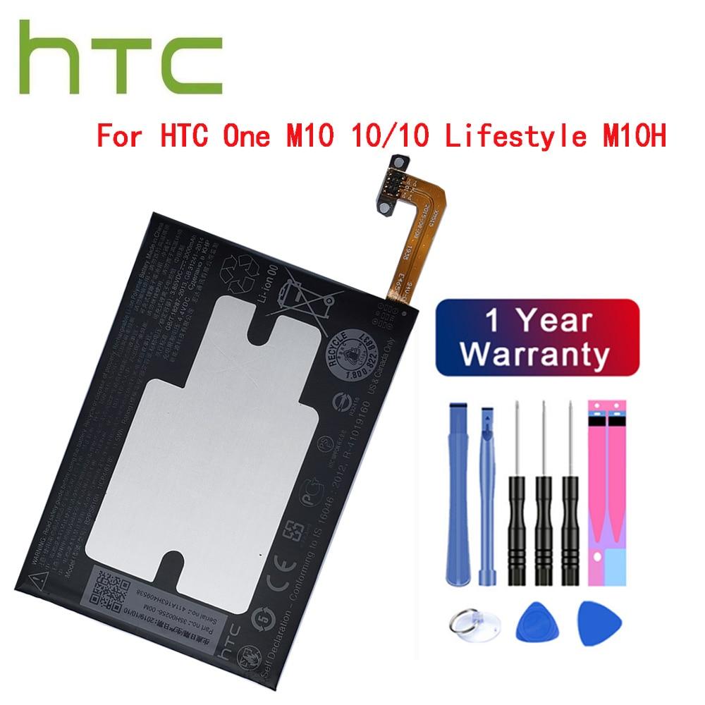 Оригинальный аккумулятор для телефона HTC 3000 мАч B2PS6100 подходит для HTC One M10 10/10 Lifestyle M10H аккумулятор + Бесплатные инструменты