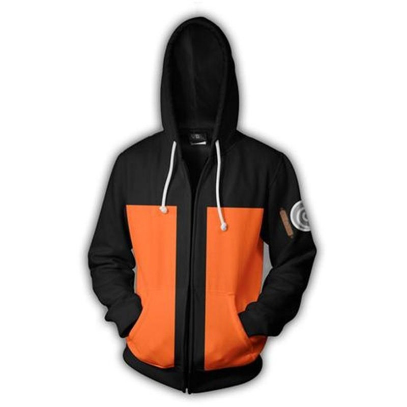 Unisex Cosplay Costume Anime Naruto For Men&women 3D Digital-printing Sweatshirts Big Size 3XL 4XL 5XL Hooded Jacket Blouse