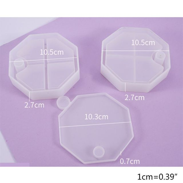 Cristal résine époxy moule rotatif chevauchement multicouche boîte à bijoux moule outil F3MD
