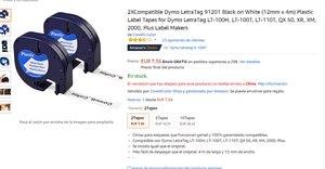 Image 2 - 10 kompatibel Dymo LetraTag 91200 Schwarz auf Weiß (12mm x 4m) papier Label Bänder für LT 100H, LT 100T, LT 110T, QX 50, XR, XM